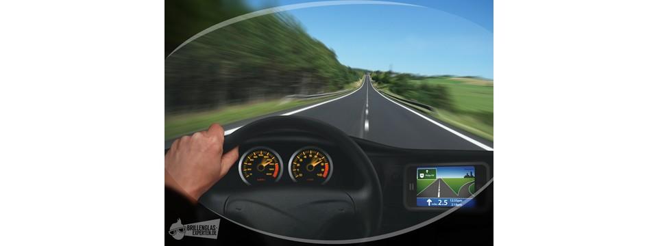 Einstärkenglas - Auto fahren