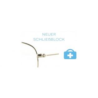 neuer Schließblock - Metallbrille